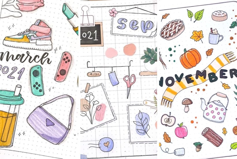 list of the best monthly covers with doodles