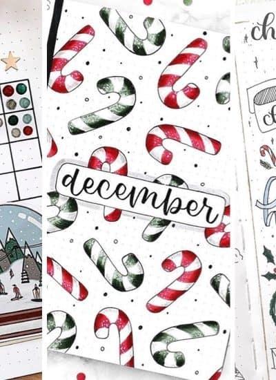 list of the best winter bullet journal spreads