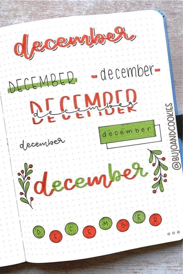 december header doodles for journal