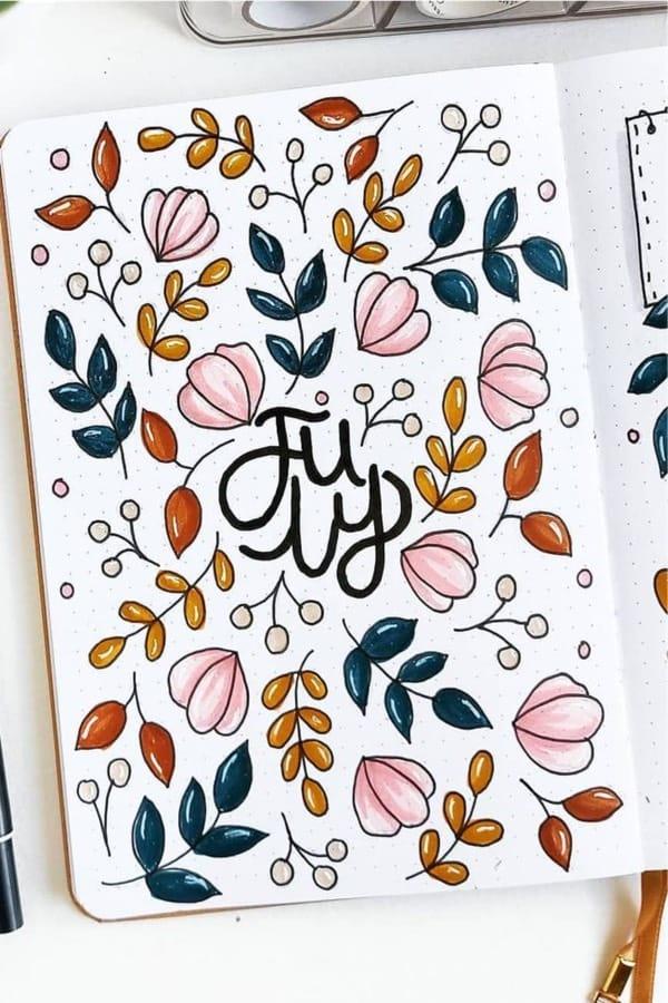 bullet journal inspiration for cover spread